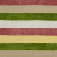 Pink/Green/Yellow Stripes Drapery and Upholstery Fabric by Lee Jofa