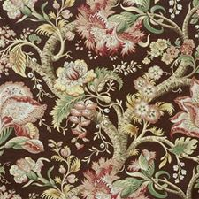 Chestnut Jacobeans Drapery and Upholstery Fabric by Lee Jofa