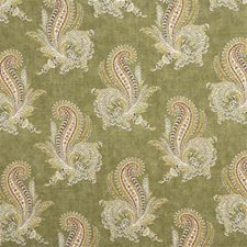 Olive Paisley Drapery and Upholstery Fabric by Lee Jofa