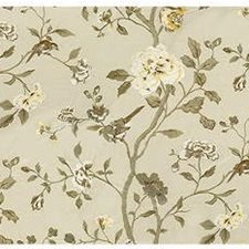 Buff Embroidery Drapery and Upholstery Fabric by Lee Jofa