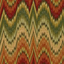 Fall Flamestitch Drapery and Upholstery Fabric by Lee Jofa