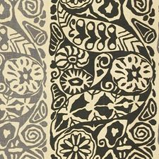 Graphite/Ebony Ethnic Drapery and Upholstery Fabric by Lee Jofa