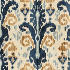 Blue Ikat Drapery and Upholstery Fabric by Lee Jofa