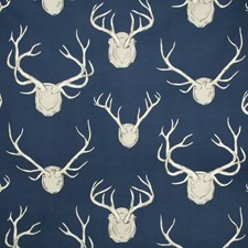Navy Animal Drapery and Upholstery Fabric by Lee Jofa