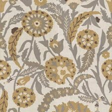 Sand/Dove Embroidery Drapery and Upholstery Fabric by Lee Jofa