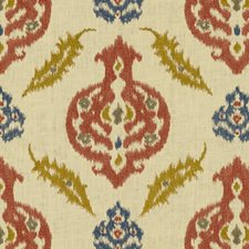 Clay/Ochre Ethnic Drapery and Upholstery Fabric by Lee Jofa
