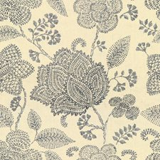 Indigo Botanical Drapery and Upholstery Fabric by Lee Jofa
