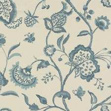 Dusk Blue Jacobeans Drapery and Upholstery Fabric by Lee Jofa