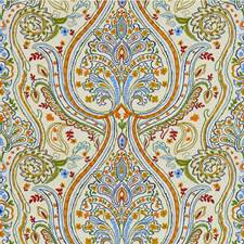 Blue/Red Paisley Drapery and Upholstery Fabric by Lee Jofa