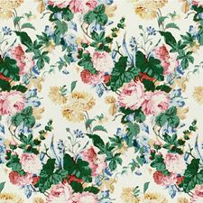 Pink/Green Botanical Drapery and Upholstery Fabric by Lee Jofa