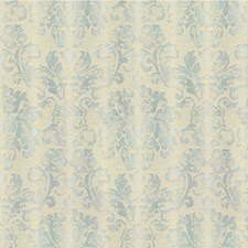 Aqua Damask Drapery and Upholstery Fabric by Lee Jofa