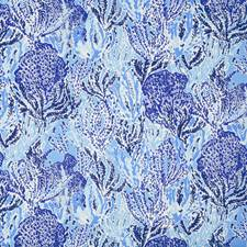 Beach Blue Novelty Drapery and Upholstery Fabric by Lee Jofa