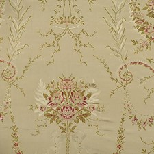 Multi Olives/Reds On Beige Drapery and Upholstery Fabric by Scalamandre