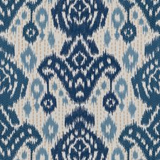 Cobalt/Blue Ethnic Drapery and Upholstery Fabric by Lee Jofa