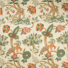 Berry/Forest Animal Drapery and Upholstery Fabric by Lee Jofa