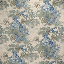 Sky/Jade Print Drapery and Upholstery Fabric by Lee Jofa