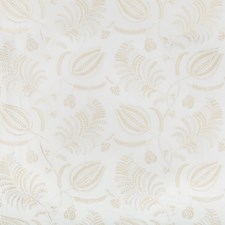 Ivory/Beige Botanical Drapery and Upholstery Fabric by Lee Jofa