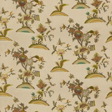 Plum/Moss Botanical Drapery and Upholstery Fabric by Lee Jofa