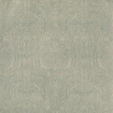 Aqua Paisley Drapery and Upholstery Fabric by Lee Jofa