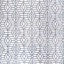 Blue Lattice Drapery and Upholstery Fabric by Lee Jofa