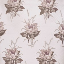 Plum/White Botanical Drapery and Upholstery Fabric by Lee Jofa