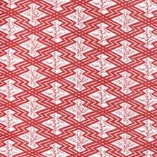 Red/White Ethnic Drapery and Upholstery Fabric by Lee Jofa