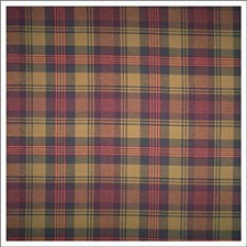 Blue/Burgundy/Red Plaid Drapery and Upholstery Fabric by Kravet