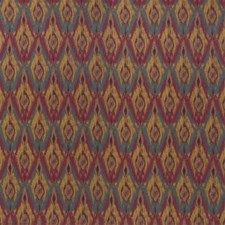 Purple/Yellow/Blue Ikat Drapery and Upholstery Fabric by Kravet