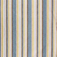 Azure/W Stripes Drapery and Upholstery Fabric by Groundworks