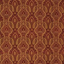 Rust/Beige/Burgundy Bargellos Drapery and Upholstery Fabric by Kravet