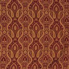 Burgundy/Red/Beige Bargellos Drapery and Upholstery Fabric by Kravet
