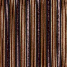 Burgundy/Red/Yellow Stripes Drapery and Upholstery Fabric by Kravet