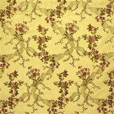 Yellow/Pink/Green Botanical Drapery and Upholstery Fabric by Kravet