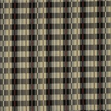 Black/Beige/Burgundy Plaid Drapery and Upholstery Fabric by Kravet