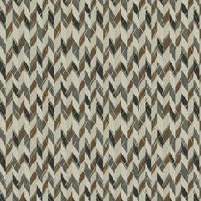 Dark Bronze Herringbone Drapery and Upholstery Fabric by S. Harris