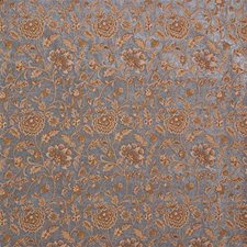 Yellow/Blue/Brown Chenille Drapery and Upholstery Fabric by Kravet