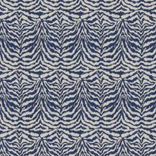 Navy Animal Drapery and Upholstery Fabric by Fabricut