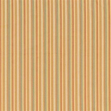Rust/Yellow/Green Stripes Drapery and Upholstery Fabric by Kravet