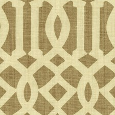 Natural/Coffee Drapery and Upholstery Fabric by Schumacher