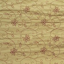 Yellow/Burgundy/Red Botanical Drapery and Upholstery Fabric by Kravet