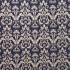 Classic Navy Ikat Drapery and Upholstery Fabric by Kravet