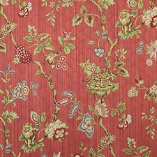 Multi On Coral Drapery and Upholstery Fabric by Scalamandre