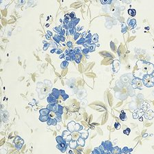 Morning Glory Drapery and Upholstery Fabric by Scalamandre