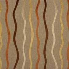 Beige/Brown/Yellow Stripes Drapery and Upholstery Fabric by Kravet