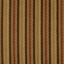 Yellow/Brown/Rust Stripes Drapery and Upholstery Fabric by Kravet