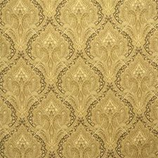 Yellow/Beige Damask Drapery and Upholstery Fabric by Kravet