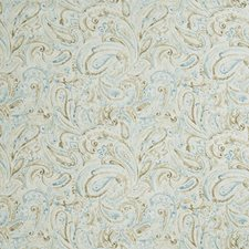 Robins Egg Paisley Drapery and Upholstery Fabric by Fabricut