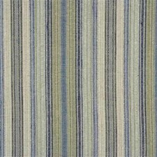 Beige/Blue/Light Green Stripes Drapery and Upholstery Fabric by Kravet