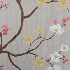 Pink Embroidery Drapery and Upholstery Fabric by Highland Court