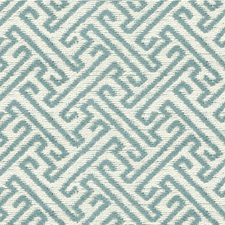 Beige/Light Blue Asian Drapery and Upholstery Fabric by Kravet
